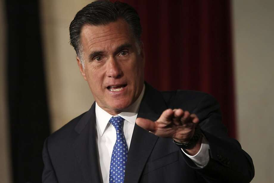 FILE - In this May 23, 2012 file photo, Republican presidential candidate, former Massachusetts Gov. Mitt Romney addresses the Latino Coalition's 2012 Small Business Summit in Washington. With a few strokes of his pen on a sleepy holiday six months after he became governor of Massachusetts, Mitt Romney quietly scuttled the state government's long-standing affirmative action policies. Eventually, he retreated. The likely Republican presidential nominee's handling of affirmative action may offer insights into how he would deal with civil rights issues if he defeats Barack Obama, the nation's first black president.  (AP Photo/Mary Altaffer, File) Photo: Mary Altaffer, Associated Press