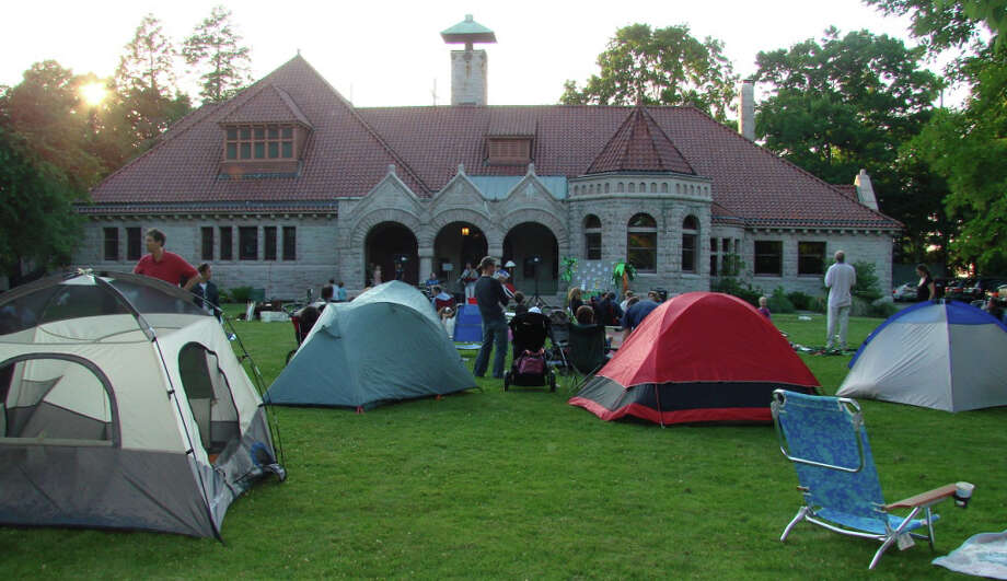 Pequot Library almost took on the look of a state park last spring during it's annual Potluck Dinner and Campout. This year's event is Friday, June 8 Photo: Contributed Photo / Fairfield Citizen contributed