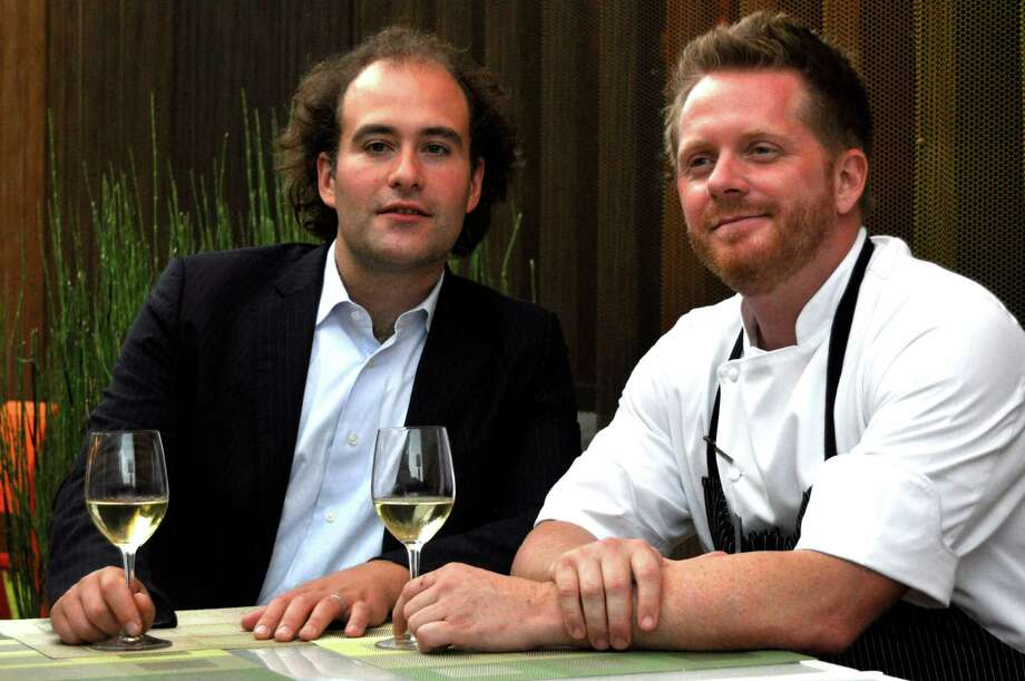 "Antoine Plante, music director of Mercury, and Ryan Hildebrand, chef of Triniti restaurant, are collaborating on ""Concerto in Eight Courses,"" an event on June 10 at Triniti where each course will be paired with a live music piece in the restaurant. Photo: Kimberly Park"