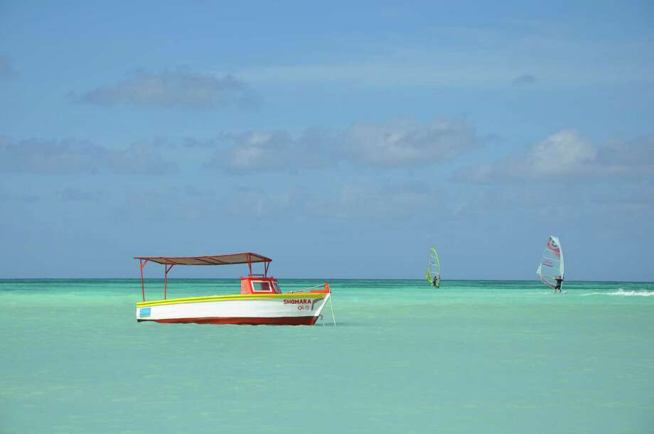 Aruba is famous for its white sand beaches and turquoise water. Its calm northwest coast is great for sindsurfing. Photo: Melissa Ward Aguilar