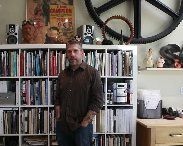Owen Smith, BART poster artist, in his studio on Thursday, May 24th, 2012 in  Alameda, Calif. Photo: Jill Schneider, The Chronicle