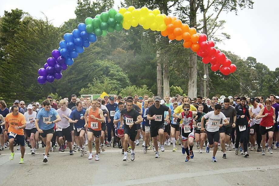 The start of the 2011 SF FrontRunners Pride Run. Photo: Mark Rogers
