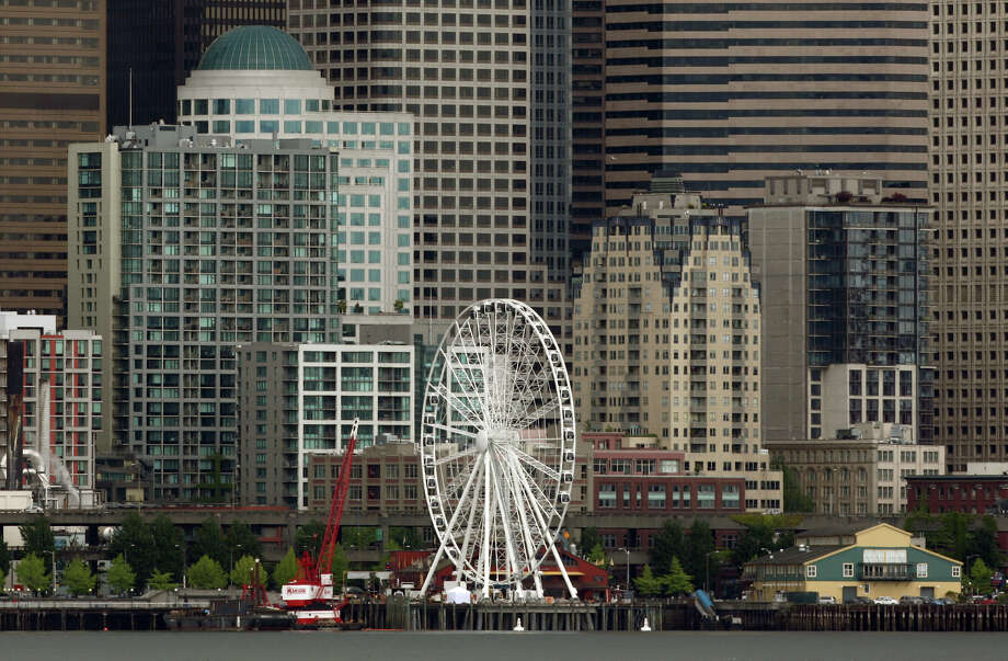 The Seattle Great Wheel is shown from Elliott Bay. Photo: JOSHUA TRUJILLO / SEATTLEPI.COM