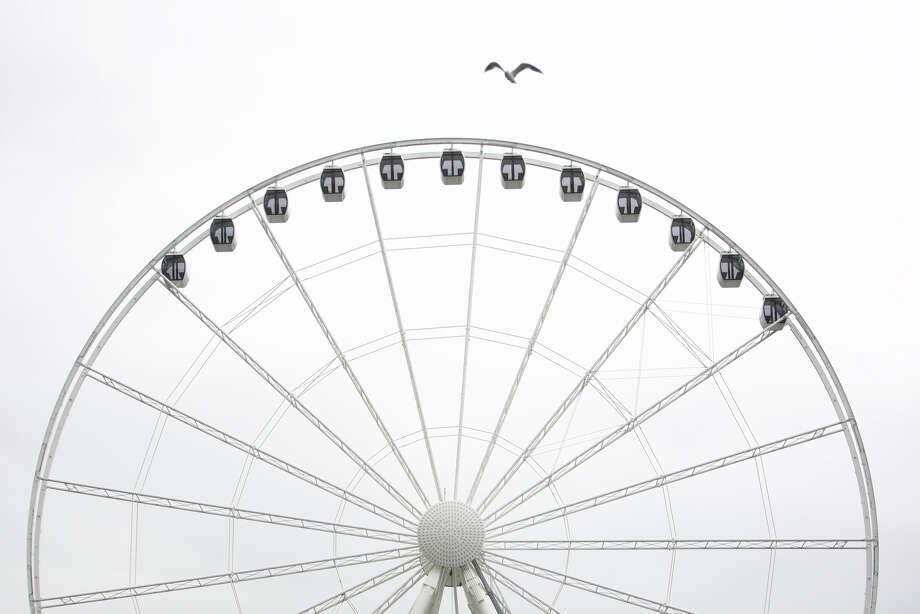 The Seattle Great Wheel is shown on Tuesday, June 5, 2012.  The nearly 175 foot-tall Ferris wheel being constructed at the end of Pier 57 on the Seattle waterfront will begin operation by July 4th. Photo: JOSHUA TRUJILLO / SEATTLEPI.COM