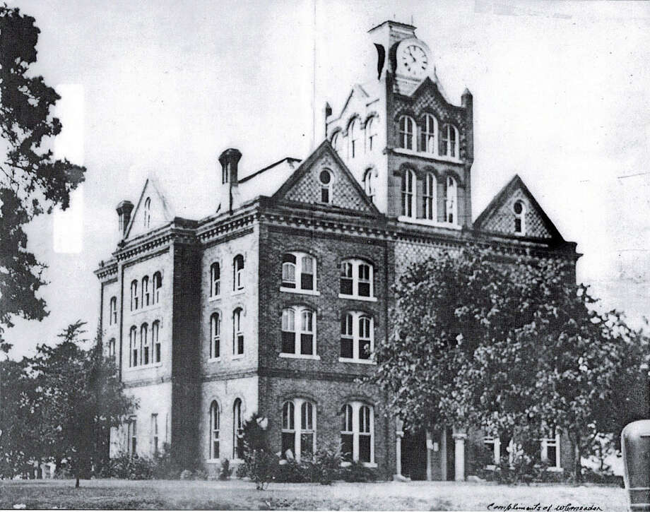 The Tyler County Courthouse, built in 1891, is shown as it appeared before renovation in the mid-1950s. Woodville residents would like to restore the historic structure to its original appearance.