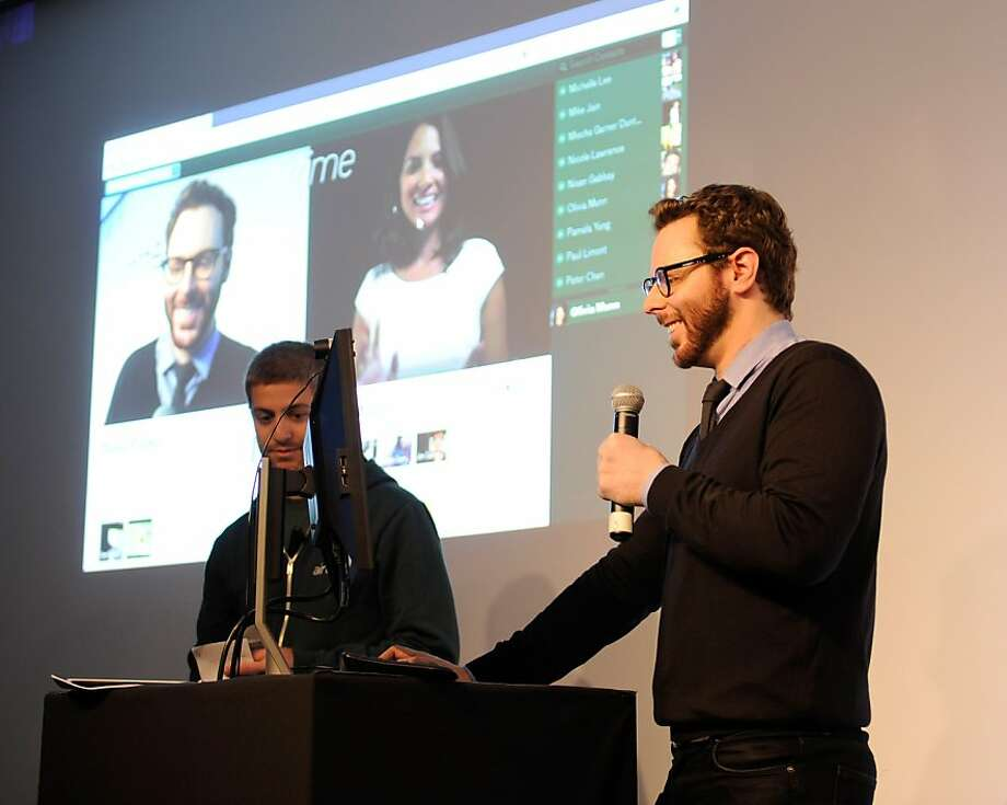 NEW YORK, NY - JUNE 05:  Airtime Co-founder and Executive Chairman Sean Parker demoing Airtime Live during the Airtime Launch Press Conference at Milk Studios on June 5, 2012 in New York City.  (Photo by Kevin Mazur/WireImage for Airtime) Photo: Kevin Mazur, Mazur/WireImage For Airtime