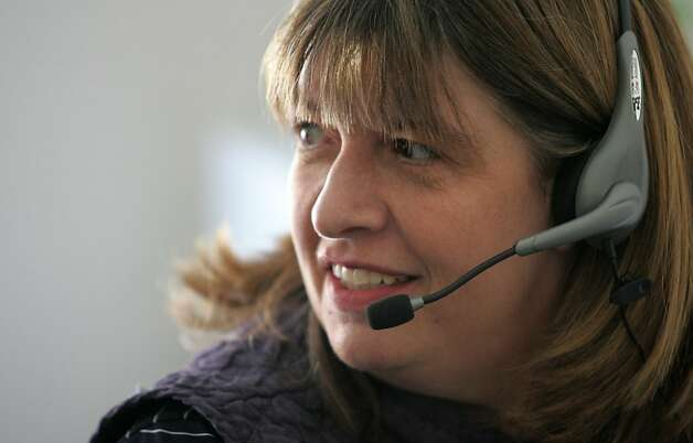 District 13 state senate candidate Sally Lieber phone banks on election day in Palo Alto, Calif. on Tuesday, June 5, 2012. Photo: Mathew Sumner, Special To The Chronicle