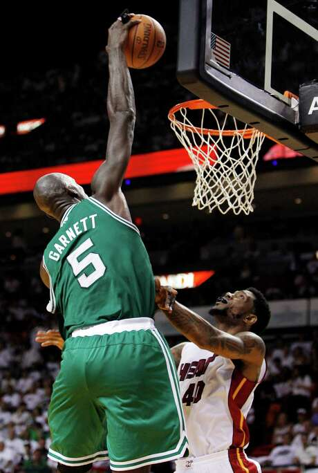 Boston Kevin Garnett had team highs of 26 points and 11 boards as the Celtics took a 3-2 lead in the Eastern Conference finals. Photo: AP