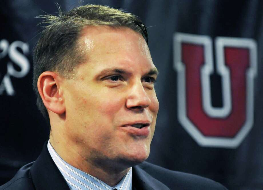 Union College hockey associate head coach Rick Bennett announces that he is taking over as head coach, replacing Nate Leaman during a news conference at Union College in Schenectady Friday afternoon April 22, 2011.  (John Carl D'Annibale / Times Union) Photo: John Carl D'Annibale
