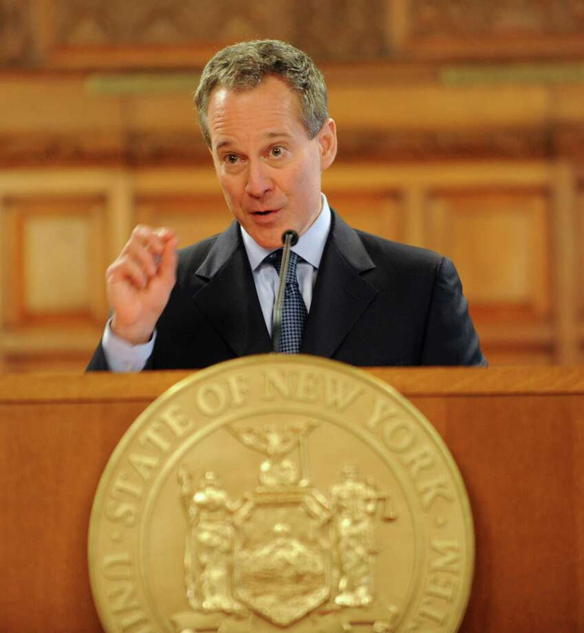 Attorney General Eric T. Schneiderman speaks during Law Day being observed at the New York State Court of Appeals Tuesday, May 1, 2012 in Albany, N.Y. (Lori Van Buren / Times Union) Photo: Lori Van Buren / 00017492A