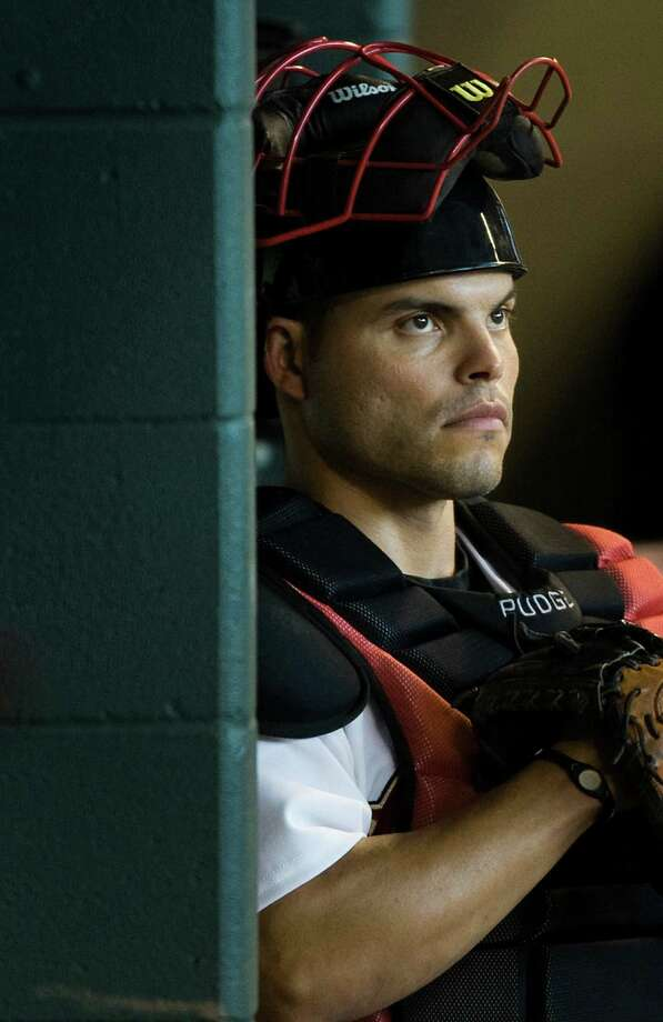 "Catcher Ivan ""Pudge"" Rodriguez turns 43. Photo: Smiley N. Pool / Houston Chronicle"