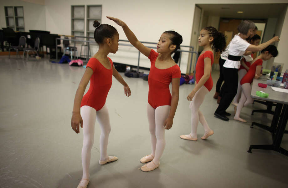 Students prepare backstage during the 18th annual DanceChance Observation day at Pacific Northwest Ballet. Photo: JOSHUA TRUJILLO / SEATTLEPI.COM