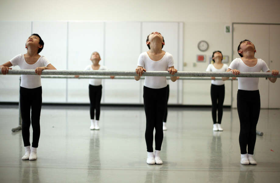 Students perform during the 18th annual DanceChance Observation day at Pacific Northwest Ballet. Photo: JOSHUA TRUJILLO / SEATTLEPI.COM