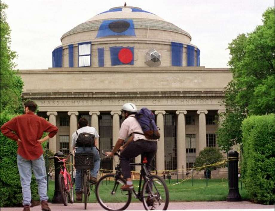 No. 2: Massachusetts Institute of Technology, again holding steady. This photo from 1999 shows the MIT Dome decorated to look like the Star Wars character, R2D2.