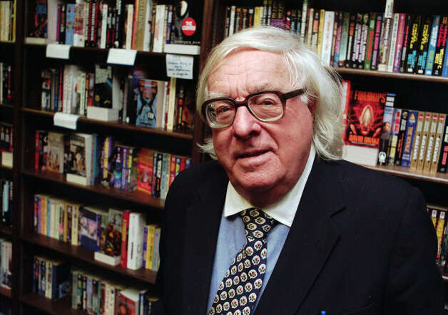 "This Jan. 29, 1997 file photo shows author Ray Bradbury  at a signing for his book ""Quicker Than The Eye"" in Cupertino, Calif.  Bradbury, who wrote everything from science-fiction and mystery to humor, died Tuesday, June 5, 2012 in Southern California. He was 91. (AP Photo/Steve Castillo, file) Photo: STEVE CASTILLO, Associated Press / AP1997"