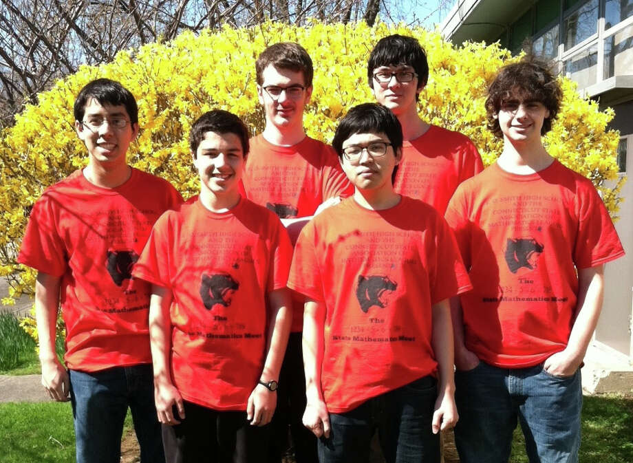 Fairfield Warde High School's math team qualified for New England competition for the first time in 25 years and was the top Connecticut finisher among large school in competition recently in Canton, Mass. From left are  Kei Nishimura-Gasparian, Sean Casey, Oliver Sawin, Hyunsoo Kim, Keelan Cosgrove and Bryan Fichera. Photo: Contributed Photo / Fairfield Citizen contributed