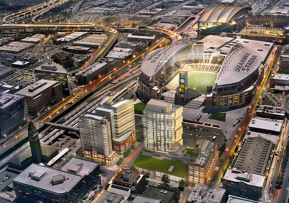 An artist's depiction of Stadium Place East and West blocks. Photo: Studio 216