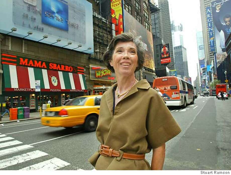 Carole Shorenstein Hays on Broadway in New York, where her show 'Caroline or Change' is about to open, April 30, 2004. (Photo/Stuart Ramson) Magazine#Magazine#SundayMagazine#10/31/2004##Advance##0421746566 Photo: Stuart Ramson