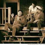 """Retouched chron photo by chronicle staff photographer Chris Stewart. James Earl Jones (L), Mary Alice and Ray Aranha in """"Fences"""" at Curran Theatre, 2/11/87 Magazine#Magazine#SundayMagazine#10/31/2004#ALL#Advance##0422398702"""