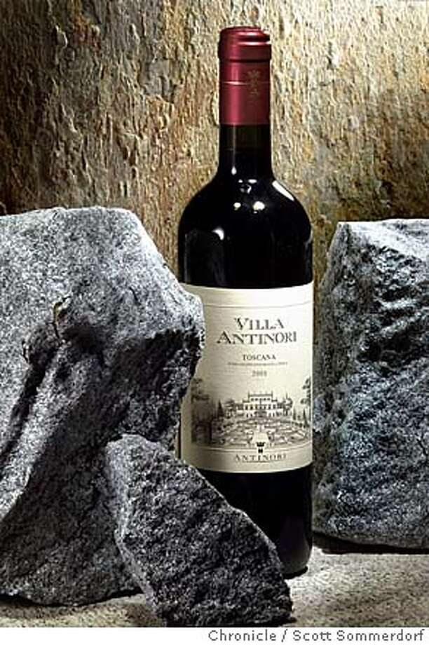 The 2001 Villa Antinori Toscana wine from Tuscany, Italy.  SF CHRONICLE / SCOTT SOMMERDORF Photo: SCOTT SOMMERDORF