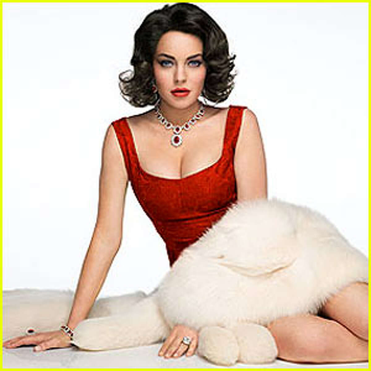 """This is the first official promo shot from the telefilm. Lohan is 25, five years younger than Taylor was when she met Burton. When was she 25? Right about the time she was filming """"Cat on a Hot Tin Roof."""""""