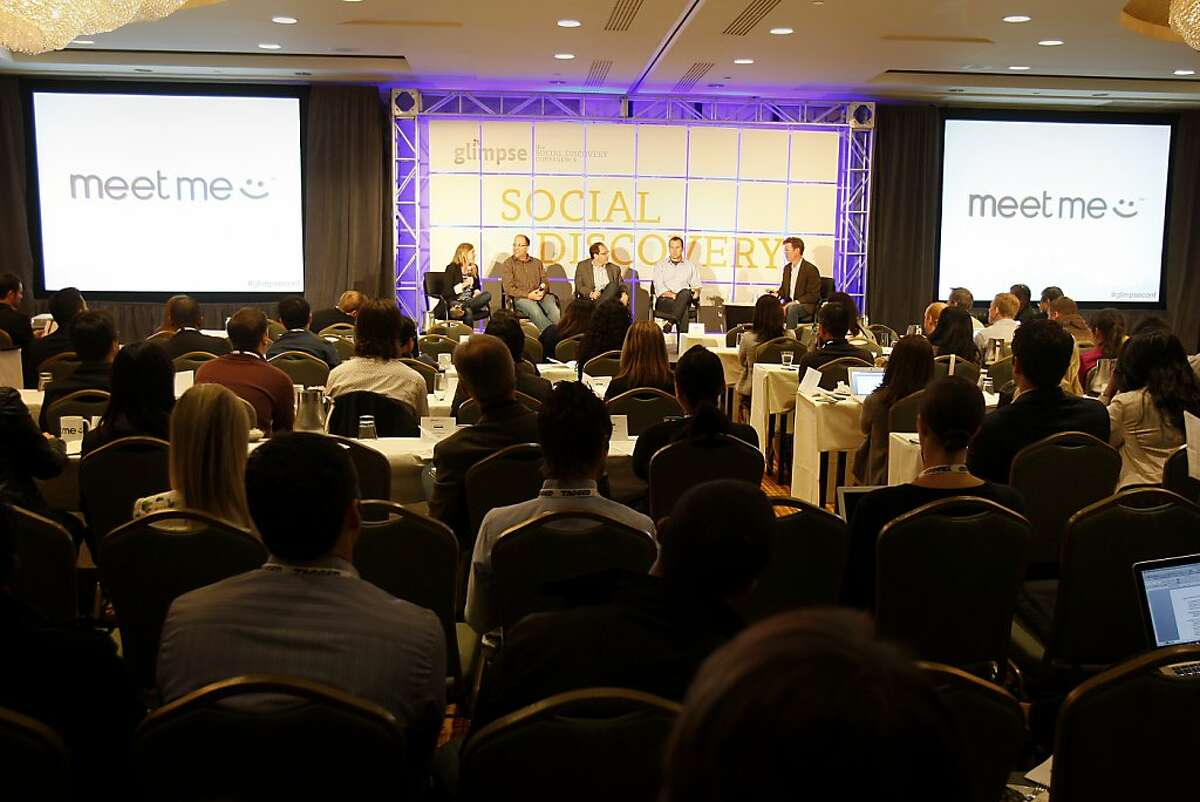 A panel discussion on investing drew a large crowd to Glimpse. Glimpse, a social discovery conference, for investors and media was held at the Marriott Union Square in San Francisco, Calif. Wednesday June 6, 2012.