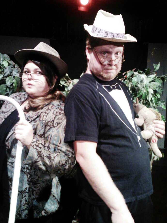 "Hilary Gonzales and Chris Manley appear in the Rose Theatre Company's 'Jurassic Farce: The Lost-er World."" Courtesy Rose Theatre Company Photo: For San Antonio Express-News"