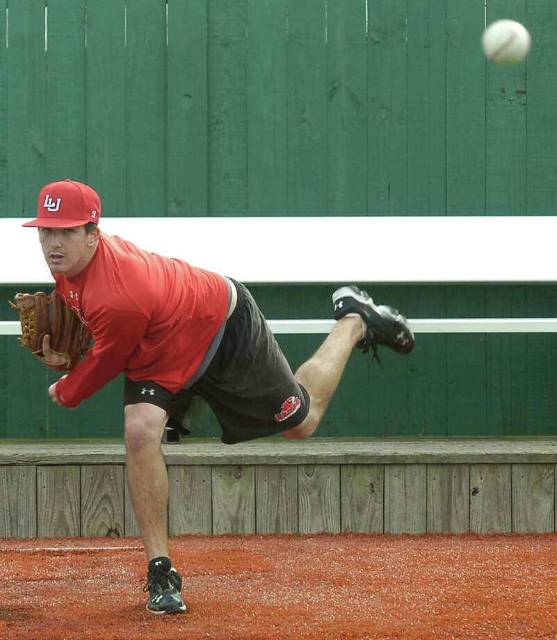 Lamar University pitcher Jonathan Dziedzic has returned from injuries that caused him to miss most of last season. He was working out Thursday afternoon at Vincent-Beck Stadium.   Dave Ryan/The Enterprise Photo: Dave Ryan