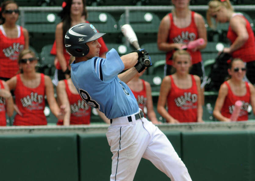 Sweeny senior outfielder Travis Johnson drives the ball against West in the bottom of the third inni