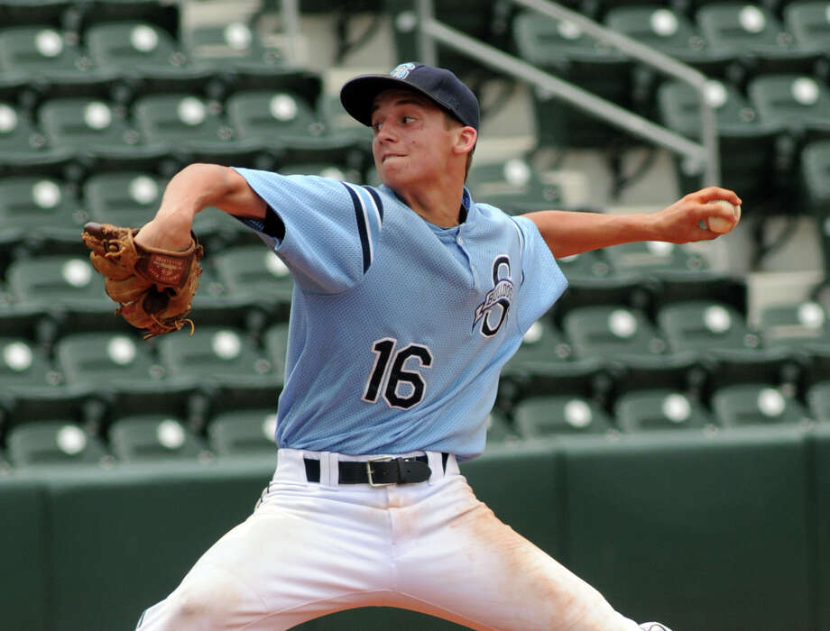 Sweeny junior pitcher Kaylor Chafin works to a West hitter during the 2nd inning of their Class 3A state semifinal matchup at UFCU Disch-Falk Field in Austin on Wednesday. Photo: Jerry Baker, For The Chronicle