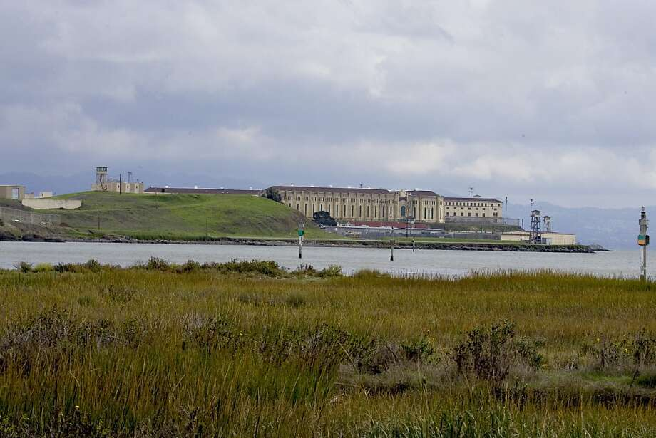 Exterior views showing San Quentin prison from Larkspur Ferry Landing and Paradise Bay. Photo: John O'Hara, The Chronicle