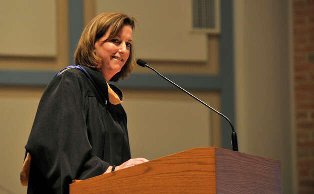 President of the school Kathleen Casey speaks during the Immaculate High School graduation ceremony at Church of St. Mary in Bethel, Conn., on Wednesday, June 6, 2012. Photo: Jason Rearick / The News-Times