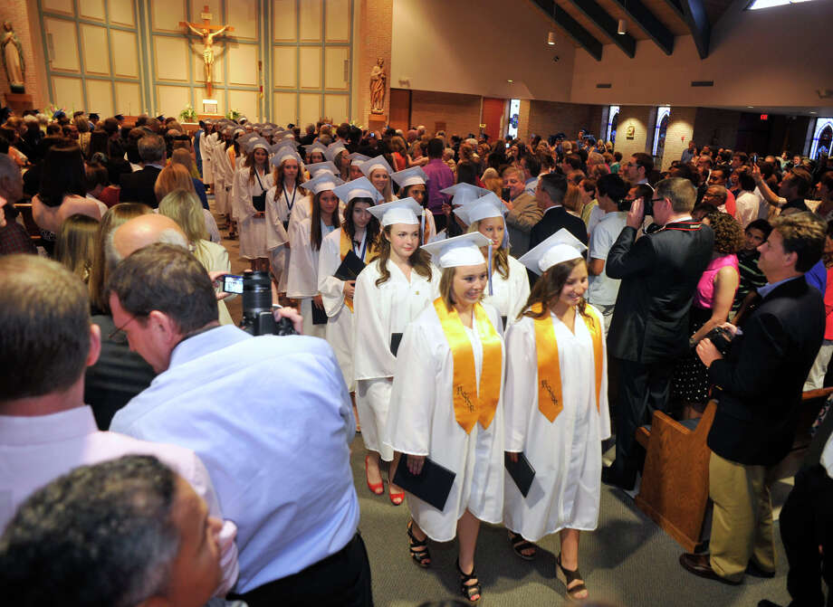 Scenes of the Immaculate High School graduation at Church of St. Mary in Bethel, Conn., on Wednesday, June 6, 2012. Photo: Jason Rearick / The News-Times