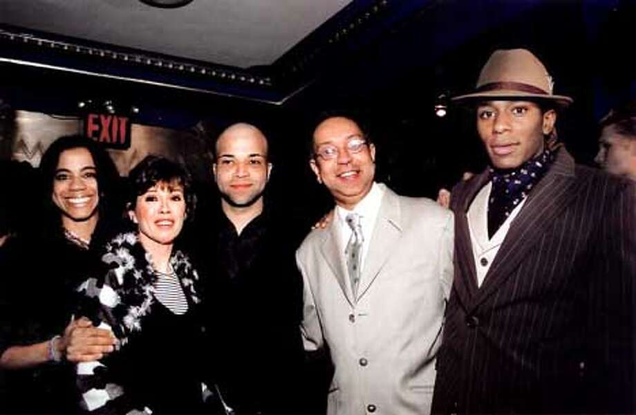 (From left) Playwright Suzan-Lori Parks, producer Carole Shorenstein Hays, co-star Jeffrey Wright, director Geroge C. Wolfe and star Mos Def  photo credit: Lyn Hughes  (HANDOUT PHOTO) Photo: HANDOUT