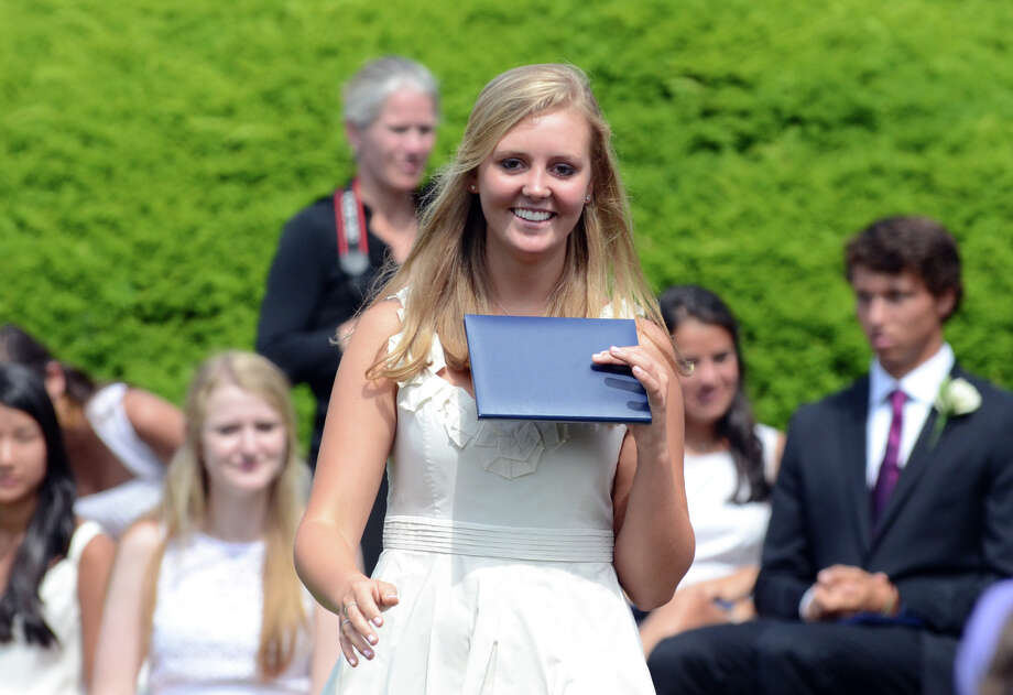 Graduate Julianna Richarson, of Redding, during the Greens Farms Academy senior graduation in Westport on Thursday, June 7, 2012. Photo: Amy Mortensen / Connecticut Post Freelance