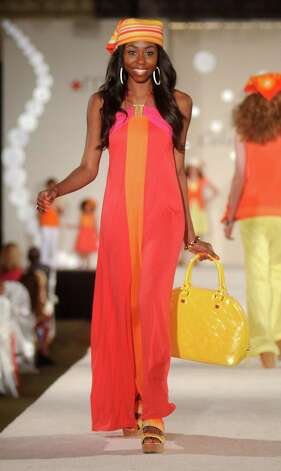 A model walks the runway at the Brentwood Scholarship Luncheon and Macy's Fashion Show Photo: Dave Rossman / © 2012 Dave Rossman