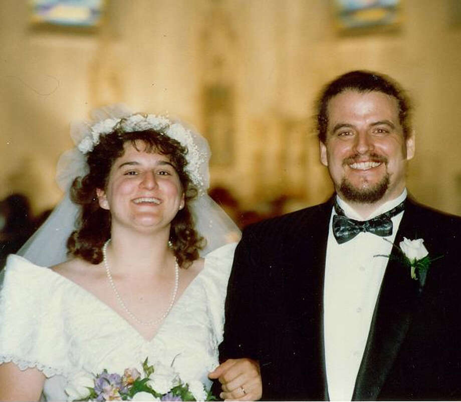 Cathy and Greg Pings were married June 15, 1991 at St. Mary Church in Ridgefield. Photo: Contributed Photo
