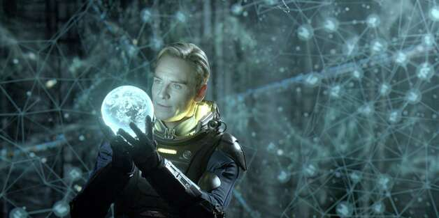 Twentieth Century Fox Aboard an alient vessel, David (Michael Fassbender) makes a discovery that could have world-changing consequences. Photo: Photo: Courtesy Twentieth Century Fox / TM and © 2012 Twentieth Century Fox Film Corporation.  All rights reserved.  Not for sale or duplication.