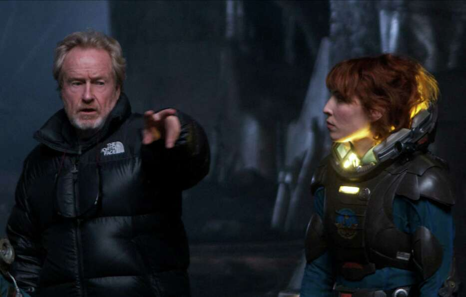 Ridley Scott on the set of