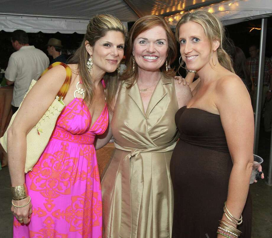 """Saratoga Springs, NY - June 1, 2012 - (Photo by Joe Putrock/Special to the Times Union) - (L to r)Amy Hollander, Kate Hogan and Allison Meyers during the """"An Evening in Paradise"""" themed Boogie off Broadway, presented by Saratoga Partners to benefit the campers of the Double H Ranch. Photo: Joe Putrock / Joe Putrock"""