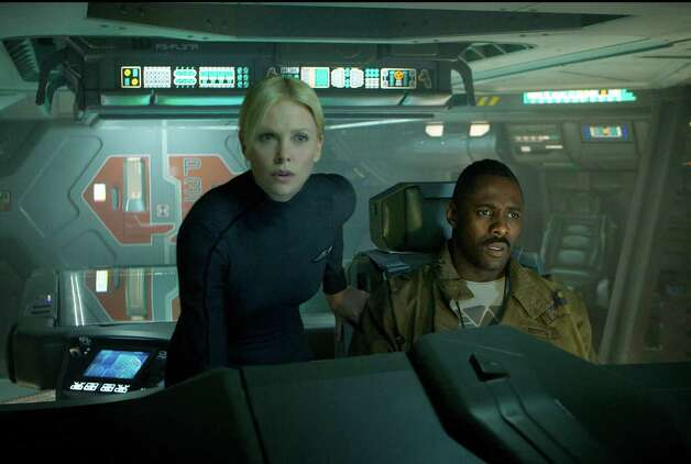 "Scott's latest movie was ""Prometheus,"" which starred Charlize Theron and Idris Elba.  Photo: Kerry Brown / TM and © 2011 Twentieth Century Fox Film Corporation.  All rights reserved.  Not for sale or duplication."