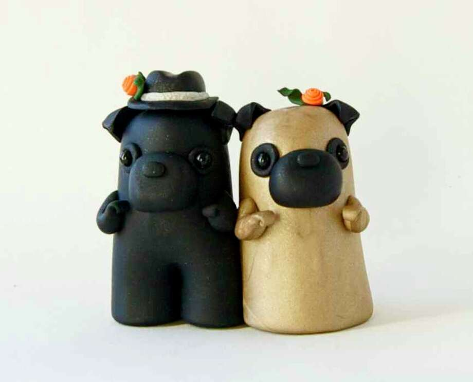 Pug Wedding Cake Topper from sofieskein Photo: Flickr Creative Commons License