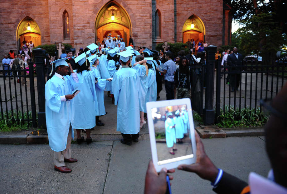 Highlights from Kolbe Cathedral's Class of 2012 Commencement Exercises at St. Augustine Cathedral in Bridgeport, Conn. on Thursday June 7, 2012. Photo: Christian Abraham / Connecticut Post