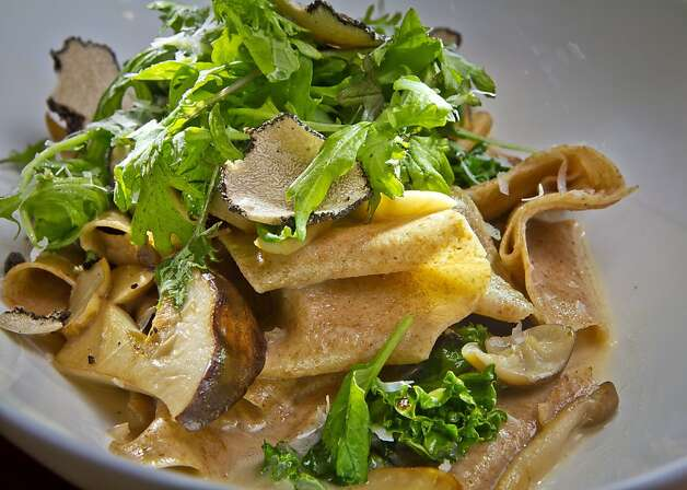 The House-Made Pasta with wild mushrooms, kale and truffle at Lucy Restaurant in Yountville, Calif., is seen on Saturday, May 26th, 2012. Photo: John Storey
