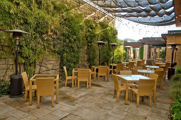 The outside patio at Lucy Restaurant in Yountville, Calif., is seen on Saturday, May 26th, 2012. Photo: John Storey