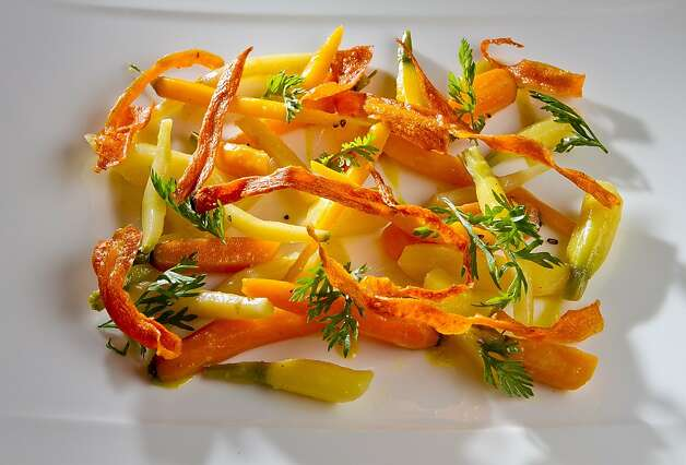 The Freshly Dug Carrot Salad at Lucy Restaurant in Yountville, Calif., is seen on Saturday, May 26th, 2012. Photo: John Storey