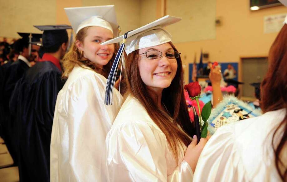 Ansonia High School holds its commencement ceremony Thursday, June 7, 2012 at the school in Ansonia, Conn. Photo: Autumn Driscoll / Connecticut Post