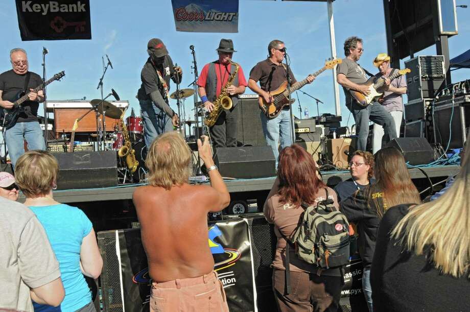 The Emerald City Band opens up for Dave Mason of Traffic as the concert kicks off the 2012 season of Alive at Five at the Corning Preserve on June 7, 2012 in Albany, N.Y.  (Lori Van Buren / Times Union) Photo: Lori Van Buren