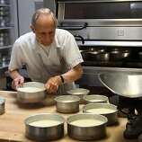 Square 37: Sam Zanze, owner and solo baker at Zanze's cheesecake, has turned out souffle-like cheesecakes for 33 years.