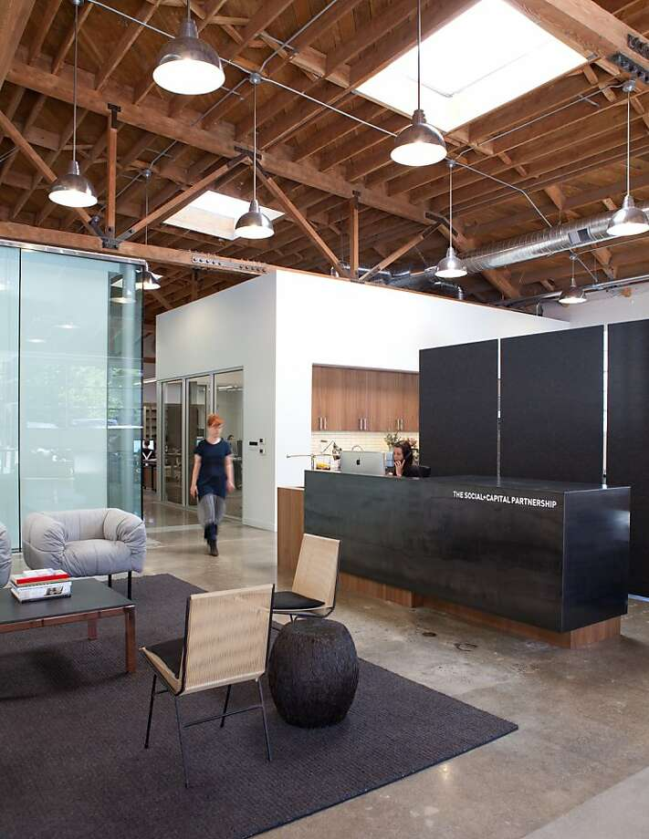 Social + Capital office in Palo Alto,  designed by Lauren Geremia, pictured center. Photo: Melissa Kaseman, Bloomberg Businessweek
